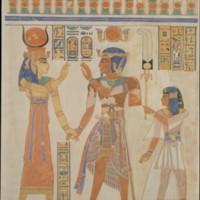 Prince Amenherkhepeshef and Ramesses III Before Hathor.jpg